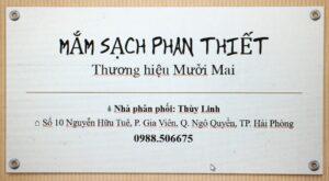 Nhà phân phối nước mắm sạch Phan Thiết thương hiệu Mười Mai - Thùy Linh, P. Gia Viên, Q. Ngô Quyền, TP. Hải Phòng